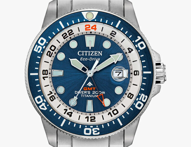 This Affordable Dive Watch Features a GMT and Titanium Case