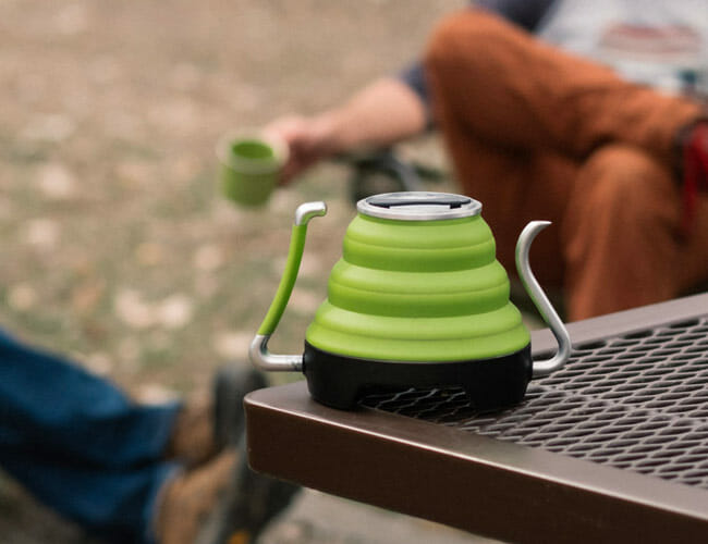 This Collapsible Electric Kettle Is Perfect for Car Camping