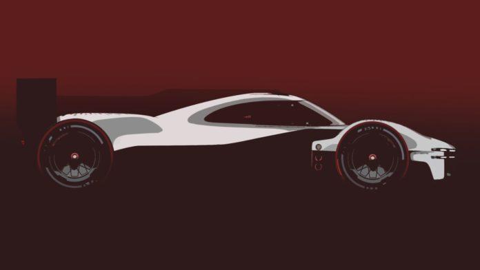 Porsche LMDh side view